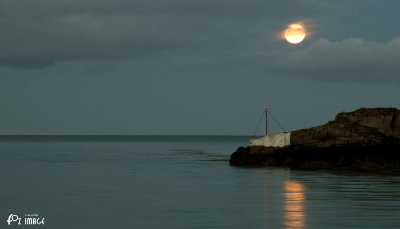 Moonrise over White Rock
