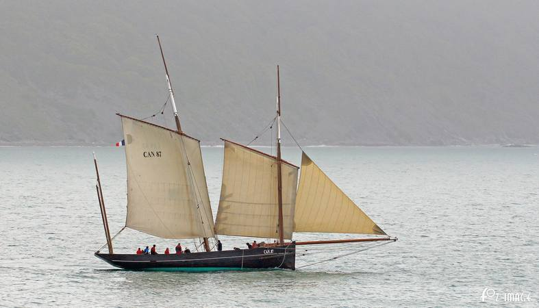 11 June 2017 - Looe Lugger Regatta - La Cancalaise © Ian Foster / fozimage