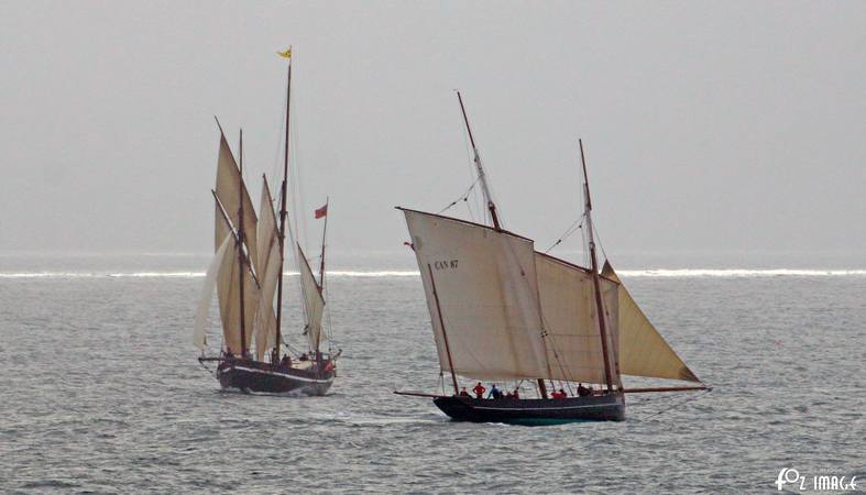 11 June 2017 - Looe Lugger Regatta - Grayhound and La Cancalaise © Ian Foster / fozimage