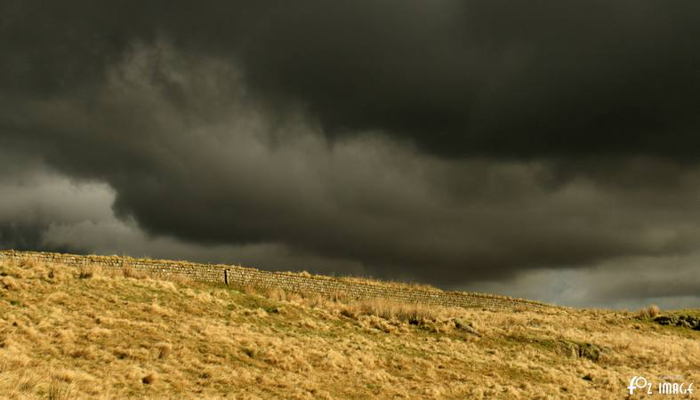 31 March 2017 - Storm clouds over Hadrian's wall © Ian Foster / fozimage