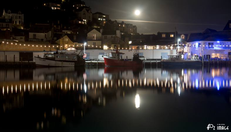 5 October 2017 Harvest moon over East Looe © Ian Foster / fozimage